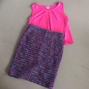 Anne Klein sleeveless pink blouse